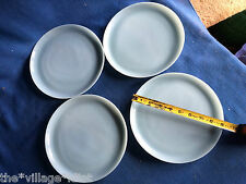 "4 pc Vintage Fire King Blue Delphite Azurite 9"" Dinner Plate Set Anchor Hocking"