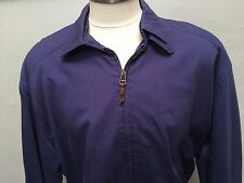 BRIONI SPORT SZ 56 L WINDBREAKER LINED JACKET MEN COAT BLUE LEFT HAND ZIP