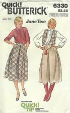 Butterick 6330 Misses' Blouse, Vest and Skirt Size 16   Sewing Pattern