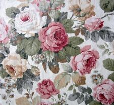 Vintage Sanderson Fabric Upholstery CHELSEA Floral Roses Length 2.26m / 7'4""