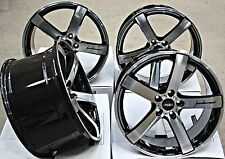 "18"" CRUIZE BLADE ALLOY WHEELS CONCAVE 5 SPOKE BLACK & POLISHED 18 INCH ALLOYS"