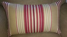 Laura Ashley Irving Stripe Cranberry Fabric Cushion Cover Bolster
