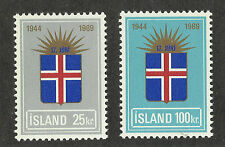 Iceland 408-409 (1969) MNH/OGnh XF/S-S {Historical Event} Set of 2