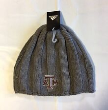 Texas A&M Aggies ADIDAS Knit Beanie Toque Skull Winter Hat NEW Grey Ribbed 1876