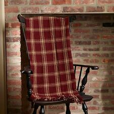 Primitive *Blanket Throw Burgundy Check 50 x60 *The Country House Collection *