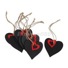 10 Wood Mini Chalkboard Hanging Tag Wedding Gifts Party Favors w/ Red Heart