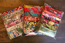 Mixed fabric remnant scrap pieces for crafts, sewing & dressmaking x 1 Bag