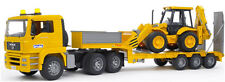Bruder MAN TGA Low loader Kids Toy Truck w JCB Backhoe 02776 NEW SAME DAY SHIP