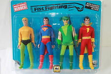 RETRO MEGO WGSH FIST FIGHTERS; 4 pack ; AQUAMAN; SHAZAM ;GREEN ARROW;  8 INCH