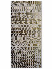 LETTERS & NUMBERS Peel Off Stickers 8mm Alphabet Card Making - Helvetica Font