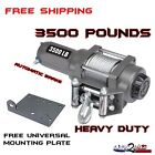 3500LB Pound WINCH KIT ATV QUAD UTV SXS MUV YAMAHA GRIZZLY 350 450 550 700