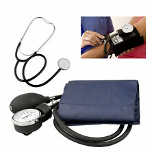 Blood Pressure Monitor Manual Aneroid Sphygmomanometer Stethoscope Adult Kit RT