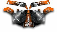 Polaris RZR 900 XP UTV Wrap Graphics Decal Kit 2011-2014 Turbo Charged Orange