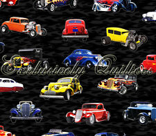 Fat Quarter Hot Rods Cars Quilting Cotton Fabric  Exclusively Quilters