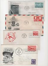 US FDC 1946-1949 14 Airmail First Day Cvrs All Cacheted Addressed with Bonus! |