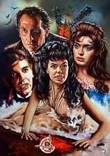 BRIDES OF DRACULA / HAMMER HORROR / HEAVYWEIGHT RICK MELTON FINE ART PRINT