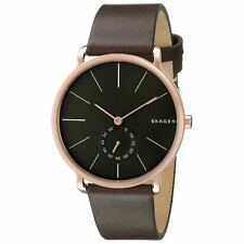 Skagen SKW6213 Gent's Grey Dial Rose Gold Steel Brown Strap Watch