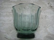 Glas Vase Jugendstil turmalin Schliff 1900 Werkstätte Künstlerglas antik Wien ?