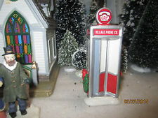 "TRAIN GARDEN VILLAGE HOUSE  "" CARNIVAL TELEPHONE BOOTH "" + DEPT 56/LEMAX info"