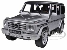2012 MERCEDES G500  G CLASS SILVER 1/18 DIECAST CAR MODEL BY AUTOART 76217