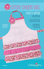 PATTERN FOR LITTLE CHORE GIRL CHILDS APRON BY CABBAGE ROSE~FREE SHIPPING~3 SIZES