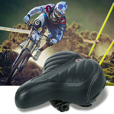 Wide Big Bum Saddle Seat Bike Bicycle Gel Cruiser Extra Comfort Sporty Soft Pad
