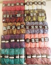 HUGE LOT 50 VARIEGATED SKEINS 4 ply WORSTED FANTASY - 10 COLORS -  DARK HORSE
