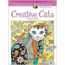 Colouring Book For Adults CREATIVE CATS Art Therapy Anti Stress FREE P&P-ONE DAY