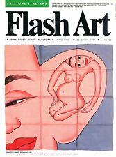 FLASH ART PRIMA RIVISTA D'ARTE IN EUROPA ANNO XXIV N. 163 ESTATE 1991