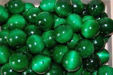 Set 50 Perles Bois Naturel Diamètre 30 mm. En Couleur Verte