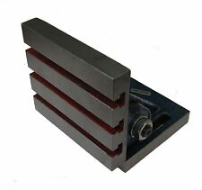 """RDGTOOLS ADJUSTABLE 6"""" X 5"""" TILTING ANGLE PLATE 0 - 90 DEGREES MILLING LATHES"""
