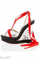 CHRISTIAN LOUBOUTIN ISABELLE 20TH ANNIVERSARY EU41 UK8 US11 WEDGE SHOES HEELS