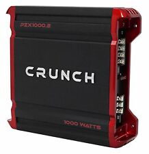 Crunch PZX1000.2 1000 Watt 2 Channel Powerful Car Stereo Amplifier Amp