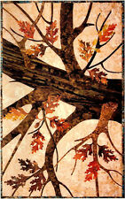 Holding On Oak Leaves Fall Autum Tree Leaf Laundry Basket Applique Quilt Pattern