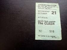 The Clash Joe Strummer ticket Lyceum Ballroom 21/10/81