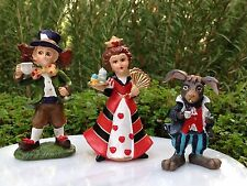 Miniature Dollhouse FAIRY GARDEN ~ Alice in WONDERLAND Red Queen Mad Hatter Hare