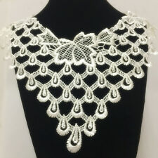 New Lace Embroidered Floral Neckline Neck Collar Trim Clothes Sewing Applique 80