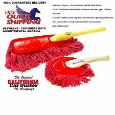 The Original California Large + Mini Car Duster Cars Home Wax Treated Handle