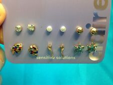 Six Pairs Of Claire's Sea Life And Stud Earrings Fish Seahorse Starfish