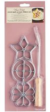 KitchenCraft New Swedish Scandinavian Rosette Iron Biscuit / Cookie Maker Stamp