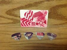 Set of 4 ~ Taylor Swift RED Collectible Custom Guitar Pick ~ Loose picks