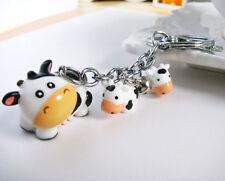 Fashion cartoon bag hanging Chain Car Key chain Ring Keyfob Metal Keyrings cow