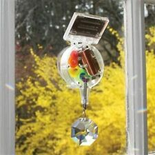 Kikkerland Solar Powered Rotating Crystal Rainbow Maker Attaches to Your Window