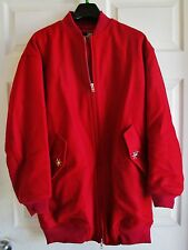 LOVE MOSCHINO Red Wool Zippered Coat Size S
