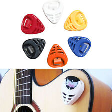 6X Guitar Pick Plectrum Holder Case Box Mixed Colours Holder Portable New