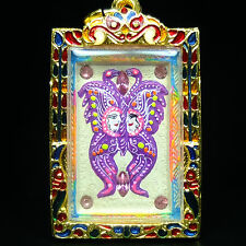Magic Butterfly Painted Pim Lek, Kruba Krissana Thai Buddha Amulet