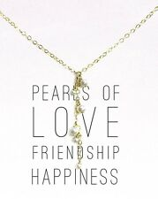 "New W/ Tag! Dogeared Pearls Of  Love 16"" Cluster Pearl Drop Necklace PGC080"