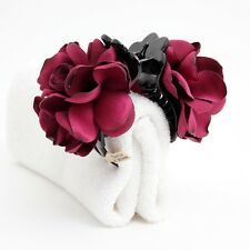 Handmade Rose Clamp Twin Flower/Floral  Hair Jaw Claw Clip Accessories