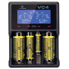 XTAR VC4 USB schermo LCD caricabatteria 18650 26650 32650 14500 AA AAA LD489 B2W