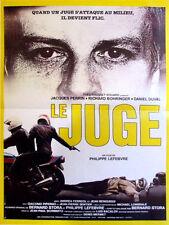 Affiche 40x60cm LE JUGE (1984) Jacques Perrin, Richard Bohringer, Duval NEUVE